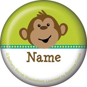 Monkeying Around Personalized Mini Magnet (Each)