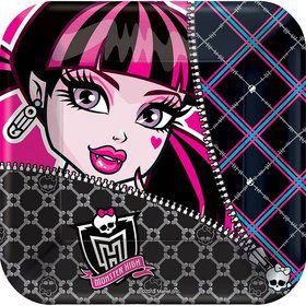 "Monster High 7"" Cake Plates (8 Pack)"