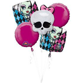 Monster High Balloon Bouquet (5 PACK)