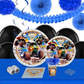 Monster Jam 3D 16 Guest Tableware Decoration Kit