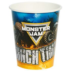 Monster Jam 9oz Paper Cups (8 Count)