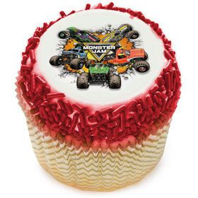 Monster Jam Edible Cupcake Topper (12 Images)