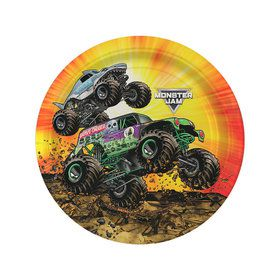 Monster Jam Grave Digger Party Dessert Plates (8)
