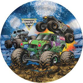 Monster Jam Grave Digger Party Lunch Plates (8)