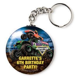 "Monster Jam Personalized 2.25"" Key Chain (Each)"