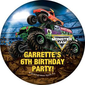 Monster Jam Personalized Button (Each)