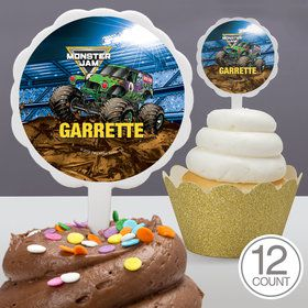 Monster Jam Personalized Cupcake Picks (12 Count)
