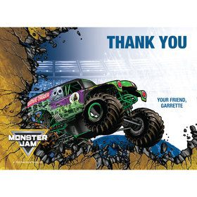 Monster Jam Personalized Thank You (Each)