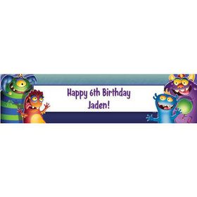Monster Party Personalized Banner (each)