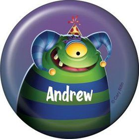 Monster Party Personalized Button (each)