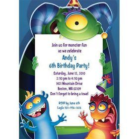 Monster Party Personalized Invitation (each)
