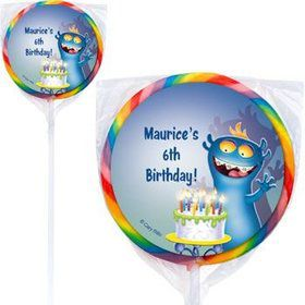 Monster Party Personalized Lollipops (pack of 12)