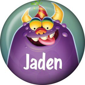 Monster Party Personalized Mini Button (Each)