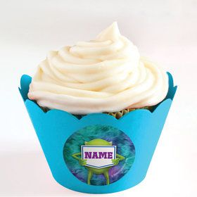 Monster Personalized Cupcake Wrappers (Set of 24)