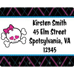 Monster School Personalized Address Label