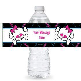 Monster School Personalized Bottle Labels (Sheet of 4)