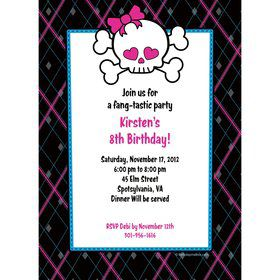 Monster School Personalized Invitation (each)