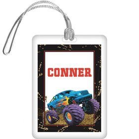 Monster Truck Personalized Bag Tag (each)