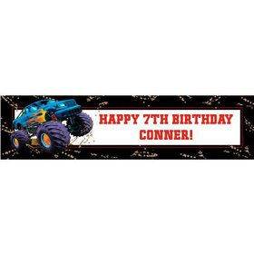 Monster Truck Personalized Banner (each)