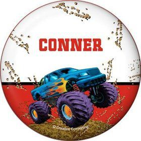 Monster Truck Personalized Button (each)