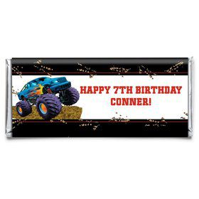 Monster Truck Personalized Candy Bar Wrapper (Each)