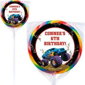 Monster Truck Personalized Lollipops (pack of 12)