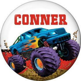 Monster Truck Personalized Mini Magnet (each)