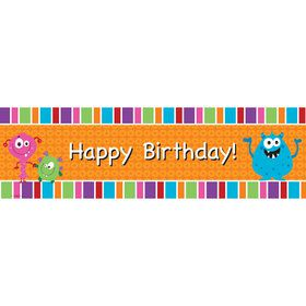 Monsters Birthday Banner