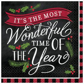 Most Wonderful Time of The Year Beverage Napkins (16)
