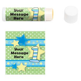 Mouse 1st Birthday Personalized Lip Balm (12 Pack)