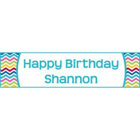 Multi Chevron Personalized Banner (Each)