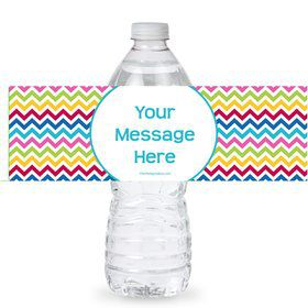 Multi Chevron Personalized Bottle Labels (Sheet of 4)