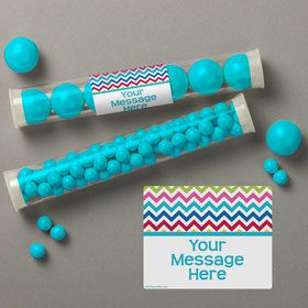 Multi Chevron Personalized Candy Tubes (12 Count)