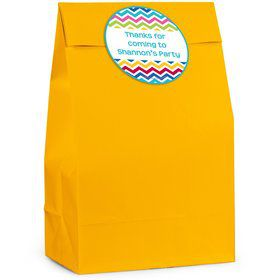 Multi Chevron Personalized Favor Bag (12 Pack)