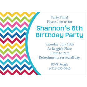 Multi Chevron Personalized Invitation (Each)