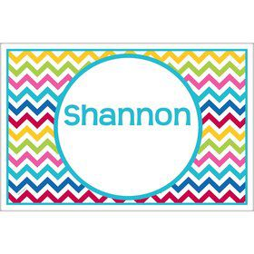Multi Chevron Personalized Placemat (Each)