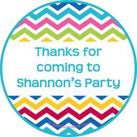 Multi Chevron Personalized Stickers (Sheet Of 12)