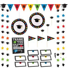 Multicolor Graduation Buffet Decorating Kit