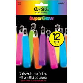 Multicolored Glow Stick Necklaces (12 Count)