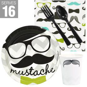 Mustache Man Snack Pack For 16