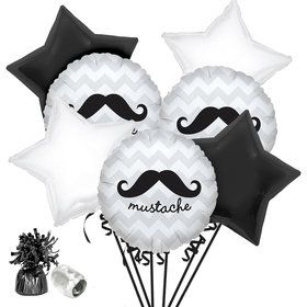 Mustache Party Balloon Bouquet Kit