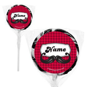 "Mustache Personalized 2"" Lollipops (20 Pack)"