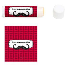 Mustache Personalized Lip Balm (12 Pack)