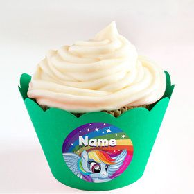 My Little Party Pony Personalized Cupcake Wrappers (Set of 24)