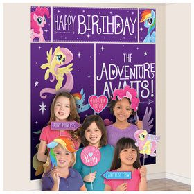 My Little Pony Friendship Adventures 17 Pc Scene Setter & Photo Props