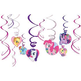 My Little Pony Value Pack Swirl Decorations (12 pack)