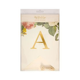 My Mind's Eye Botanical Wedding Alpha Letter Banner