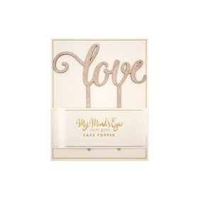 My Mind's Eye Botanical Wedding Love Wood Cake Topper