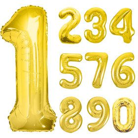 Mylar Gold Number Balloons (Each)
