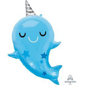 """Narwhal Baby 31"""" Foil Balloon"""